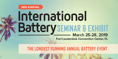 International Battery Seminar - Inventus Power - Booth#429